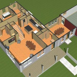 Floor Plans Cooperstown Farmhouse Overhead Level One
