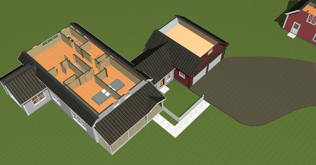 Cooperstwon Farmhouse Overhead Level Two