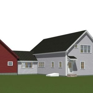 THe Cooperstown Farmhouse Back Elevation
