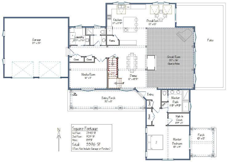 The Wyoming Floor Plan Level One