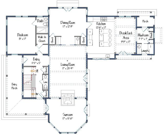 Cove Hollow FLoor Plans Level One
