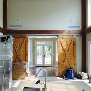 Post and Beam Additions: Kitchen into Sunroom