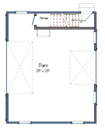 Barn Floor Plans Level One