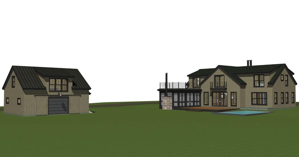 Expanded Back View with Barn