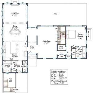 Tisbury Barn Level One Floor Plans