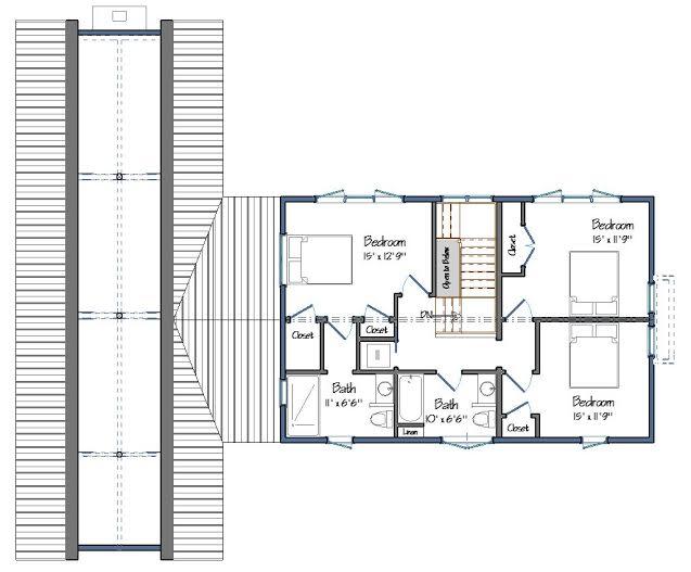 Tisbury Barn Level Two Floor Plans