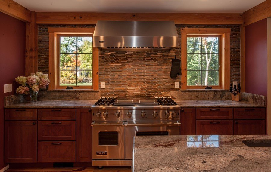 Timber Frame Farmhouse Kitchen