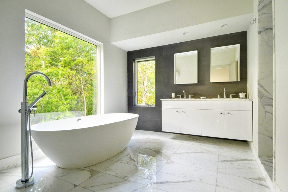 Contemporary Bath Design Oyster Shores