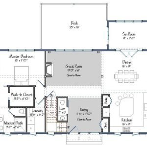 The Cabot Level One Floor Plans