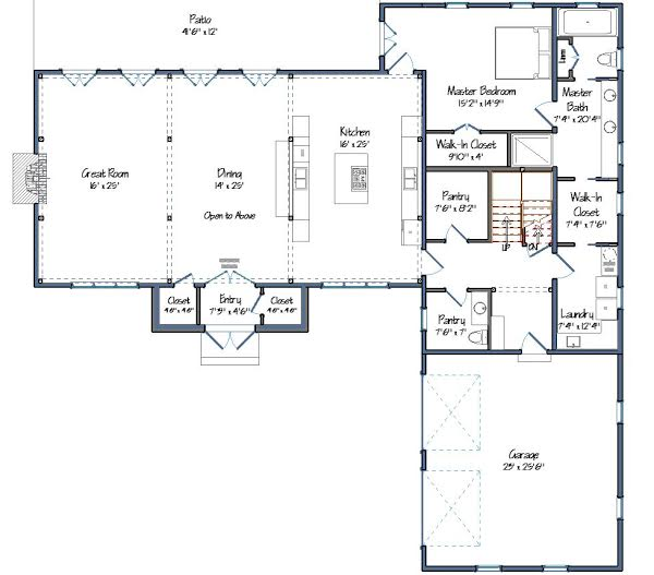 Hunt Valley Barn House Plans Level One