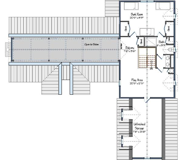 Hunt Valley Barn House Plans Level Two