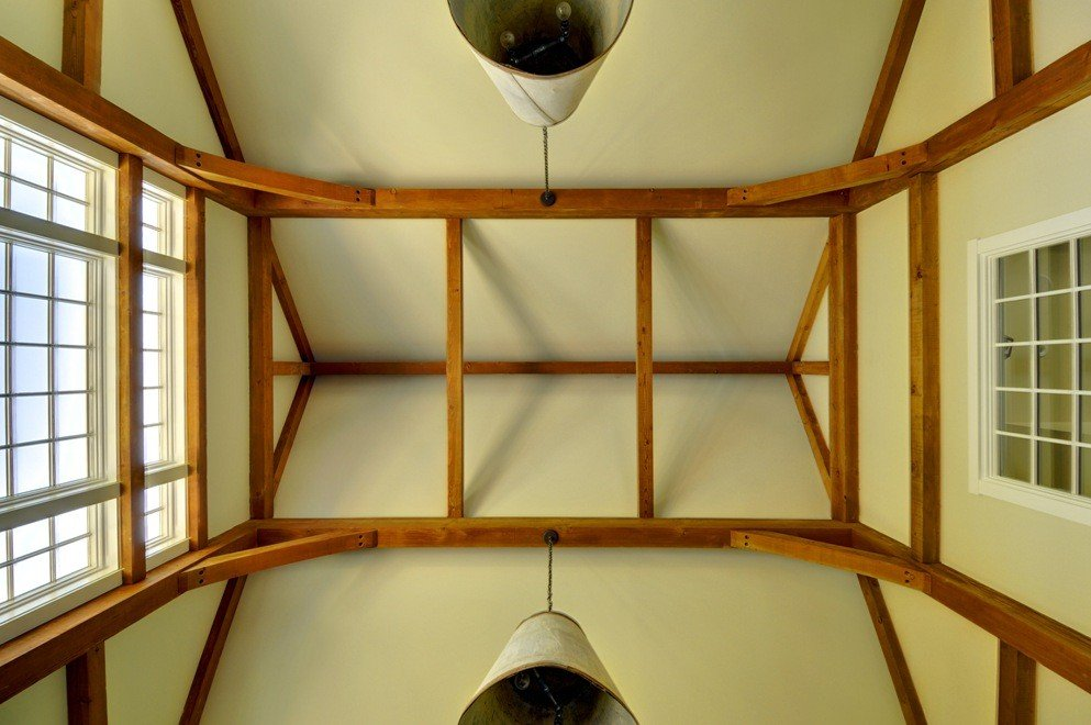 Post and Beam Frame at Laurel Hollow