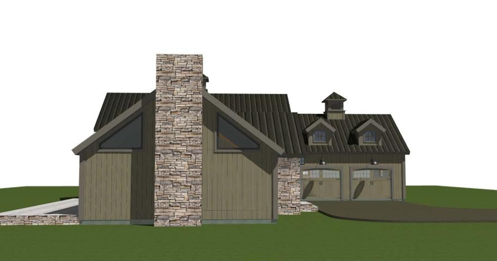 Hunt Valley Barn House Plans Side