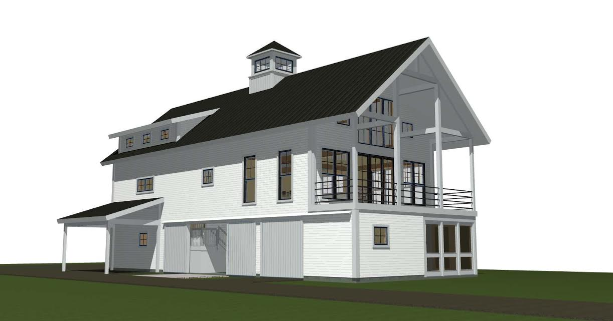 Contemporary barn house plans the montshire for Modern barn homes