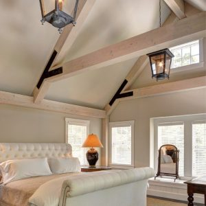 Cove Hollow Post and Beam Master Bedroom