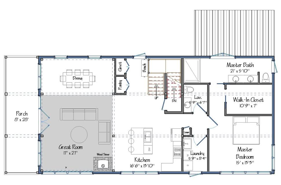 Contemporary barn house plans the montshire for Barn house floor plans