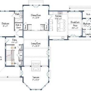Cove Hollow Level One Floor Plan