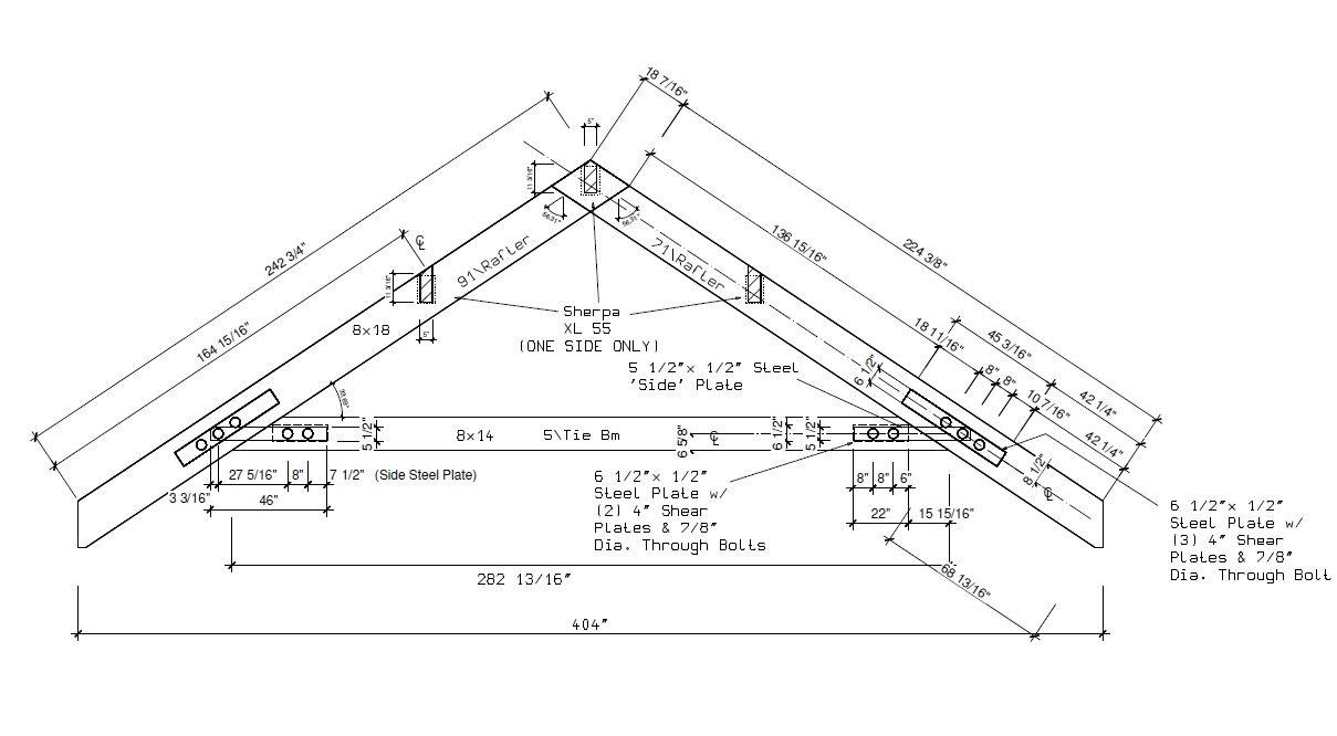 Yankee Barn Homes Arch Drawing