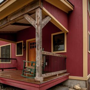 Front Porch Antique Post and Beams