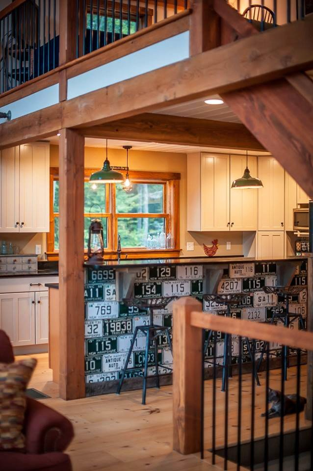 Boulder M Kitchen Island Norhtpeak Photography - Yankee Barn Homes