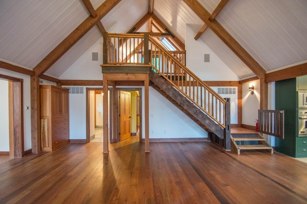 Kerr Creek Barn Home Stair