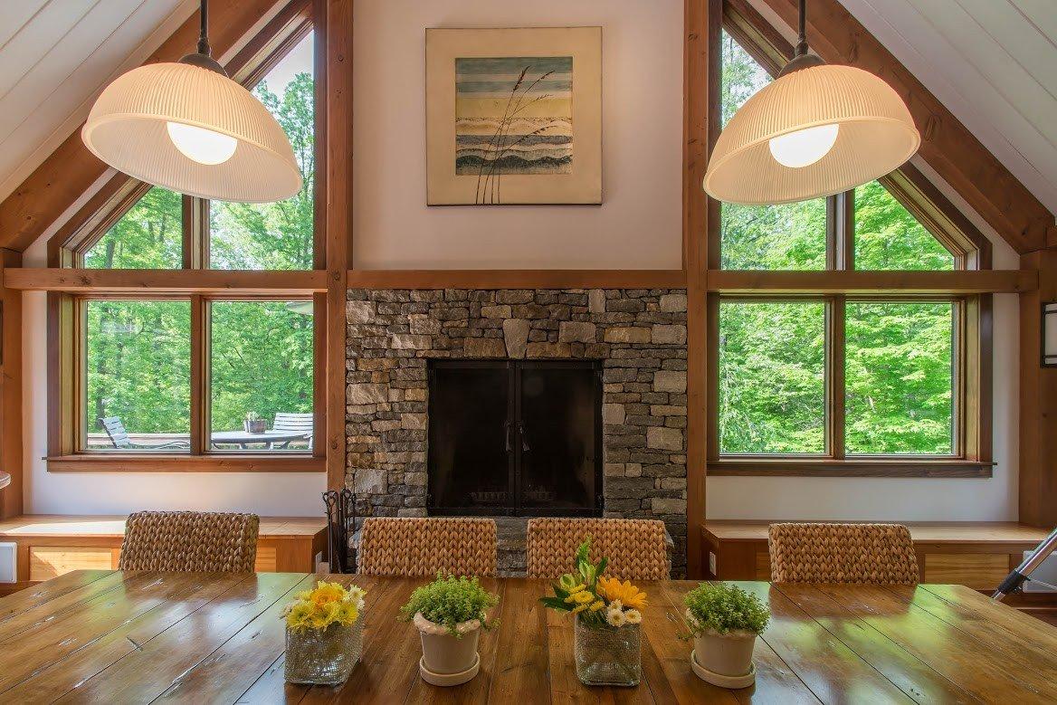 Kerr Creek Barn Home Dining Area - Yankee Barn Homes