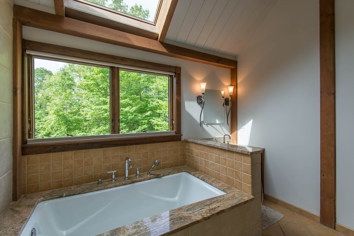 Kerr Creek Barn Home Bath - Yankee Barn Homes