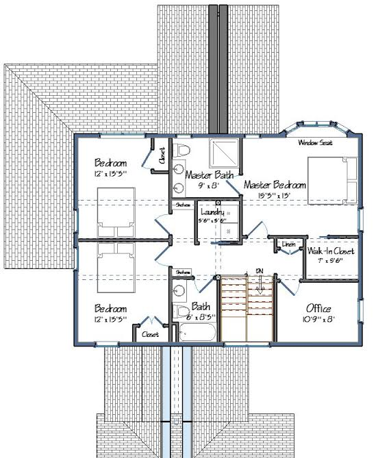 The Alexandria Level Two Floor Plan