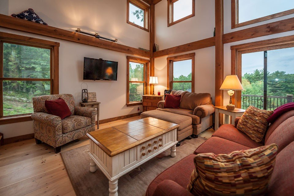Amazing Barn Style Timber Frame Living Area