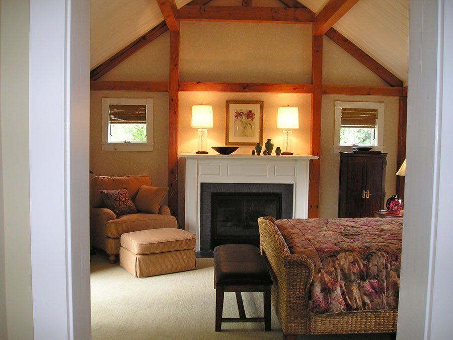 Barn Home Timber Frame Bedroom