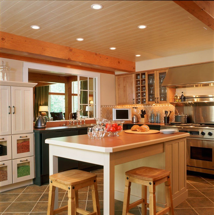 Post and Beam Kitchen