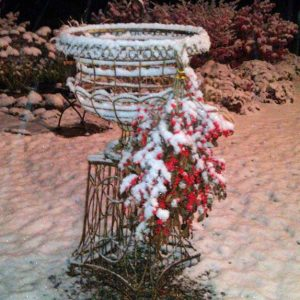 Wire Urn and Winterberries