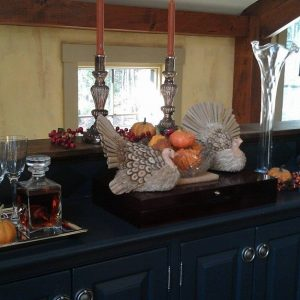 Our Sideboard in Holiday Mode