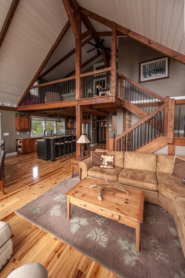Barn house staircases how your climb effects your wallet - Loft house plans inside staircase ...