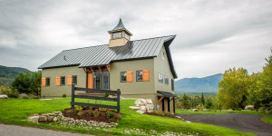 Timber Frame Barn Style Home Exterior
