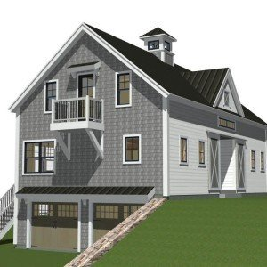 Side Elevation with Two-Car Garage