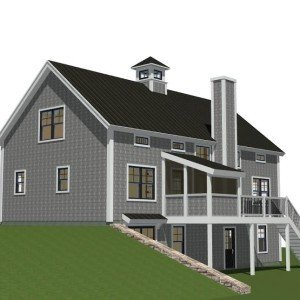 Back Elelvation w/ Screened-In Porch