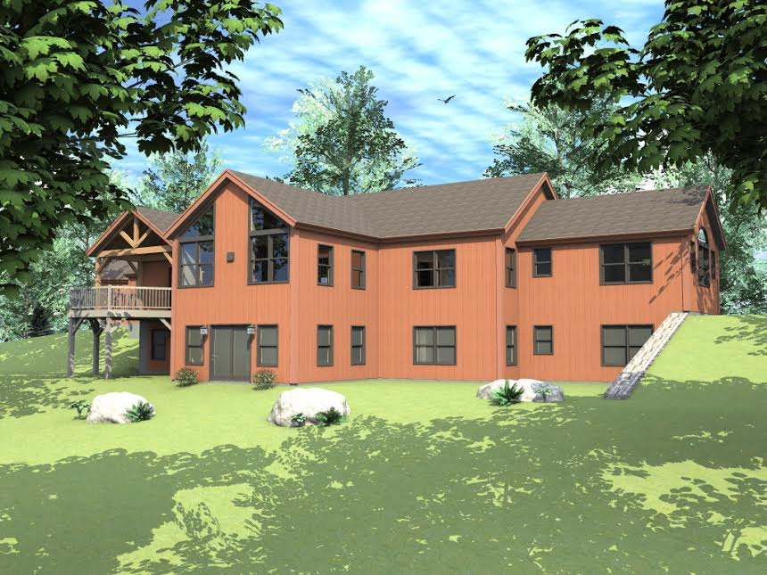 Post and beam single story floor plans for One story barn house plans