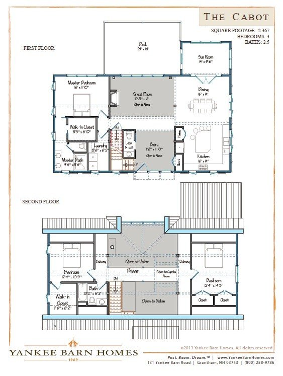 Barn House Plans Our Most Popular Designs – Yankee Barn Homes Floor Plans