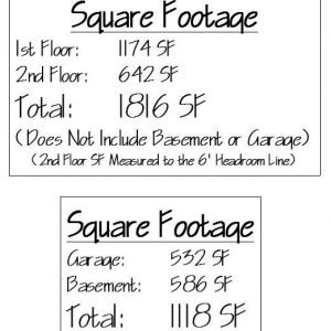Orchard View Square Footage