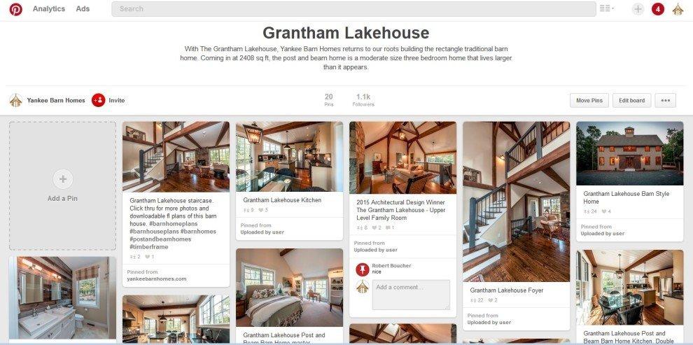 YBH on Pinterest Grantham Lakehouse Board