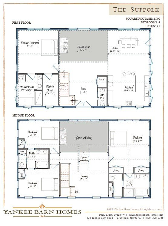 Barn house plans our most popular designs for House barn plans floor plans