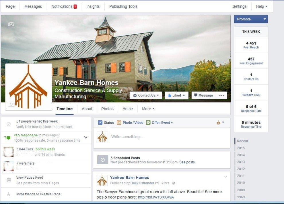 Yankee Barn Homes on Facebook