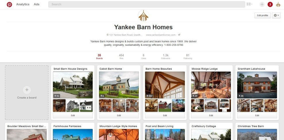 YBH Pinterest Home Page