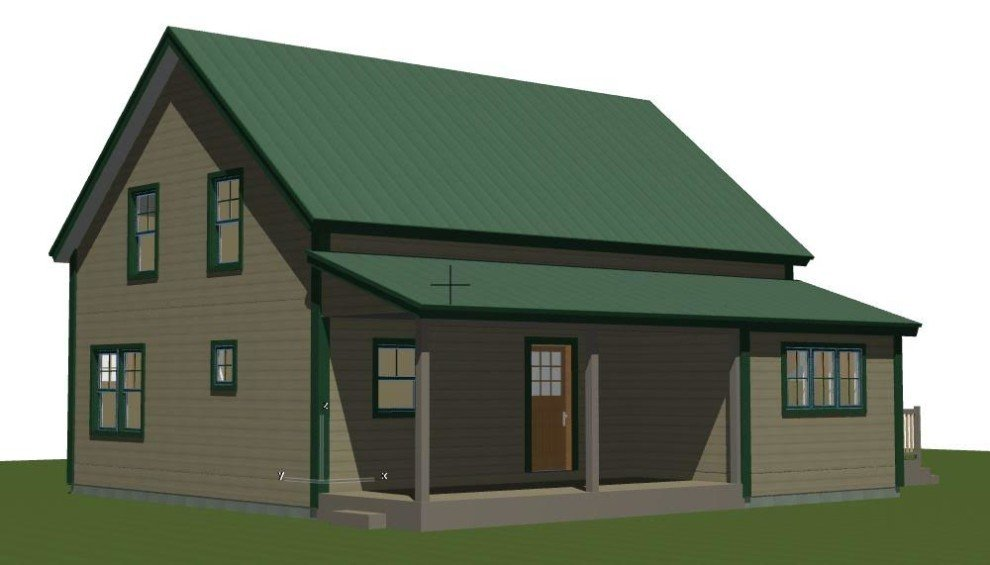 Small barn house plans the mont calm Barn homes plans