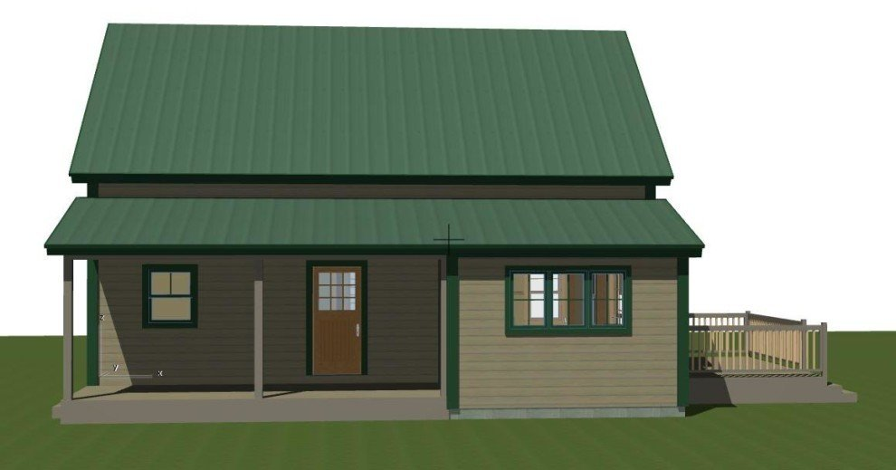 Small barn house plans the mont calm for Barn house plans and designs