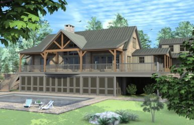 Ashuelot Lodge - Custom Panelized Timber Frame Mountain Lodge