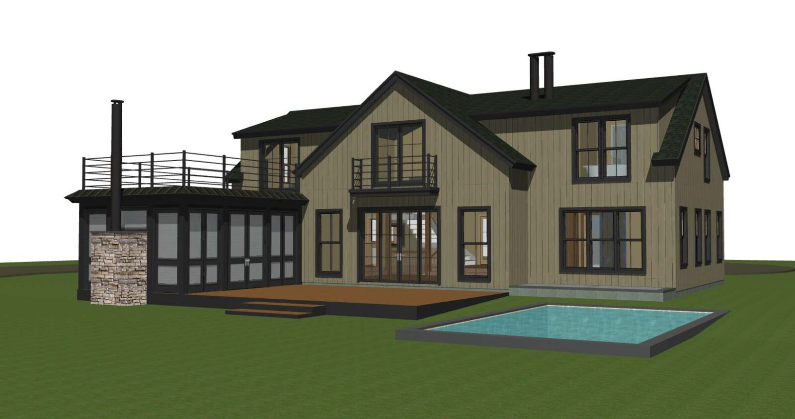 Contemporary Panelized Barn Home