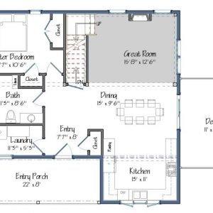 Mont Calm Level One Floor Plan