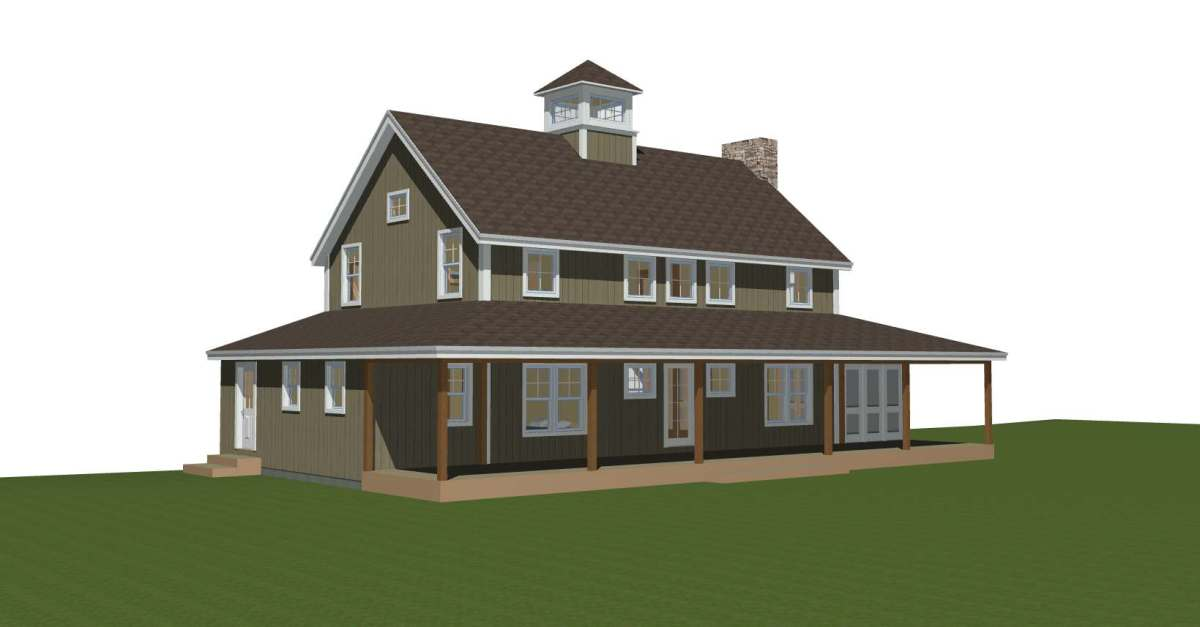 Merrimack Farmhouse - Post and Beam Prefabricated Panelized Farmhouse Barn